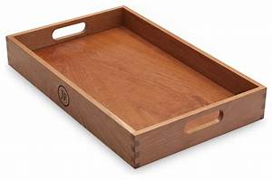 Hardwood Serving Tray, Cherry - Traditional - Serving