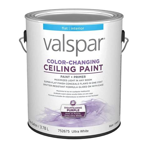 shop valspar ceiling color changing flat interior paint and primer in one actual net