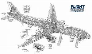Airbus A321 Cutaway Drawing