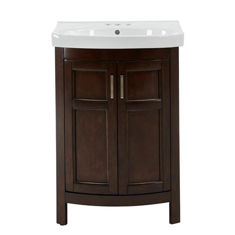 18 bathroom vanity with sink shop style selections morecott chocolate integral single