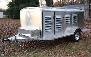 aluminum dog boxes live traps handling equipment With air conditioned dog trailer