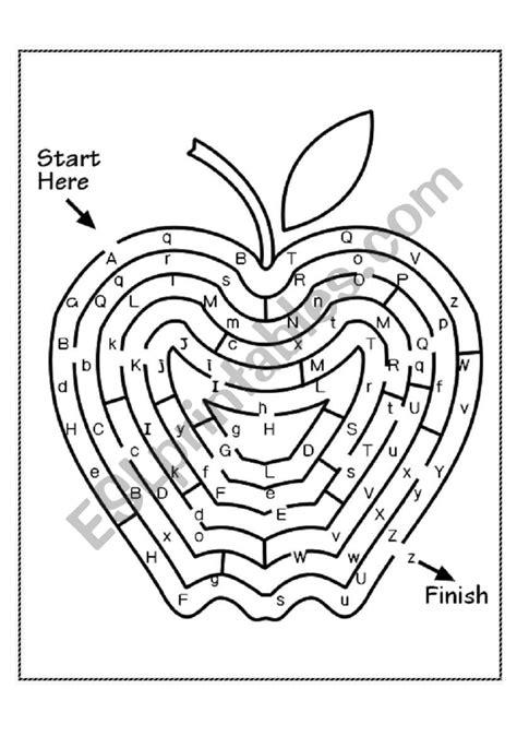 alphabet maze esl worksheet  moemi