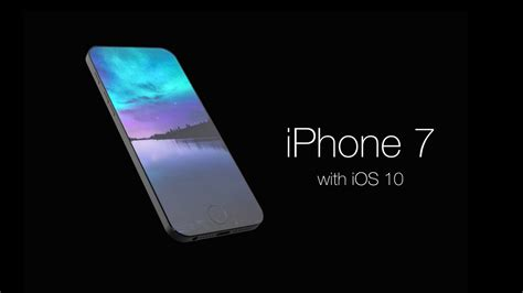 iphone x zubehör iphone 7 with ios 10 concept