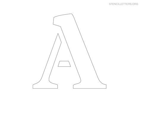 large stencil letters stencil letters a printable free a stencils stencil