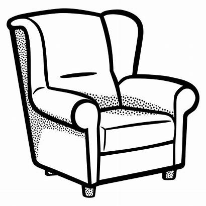Chair Clipart Drawing Clip Armchair Sofa Couch