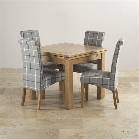 small dining set dorset extending table  check fabric