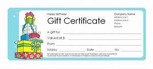 Microsoft word birthday gift certificate template image for Free gift certificate template for mac