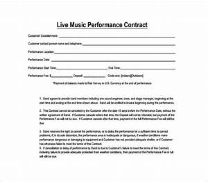 performance contract template 11 download free With music performance contract template