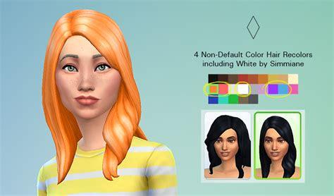 custom  default hair colors    sims forums