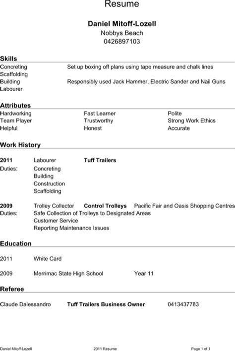 referee resume templates for excel pdf and word