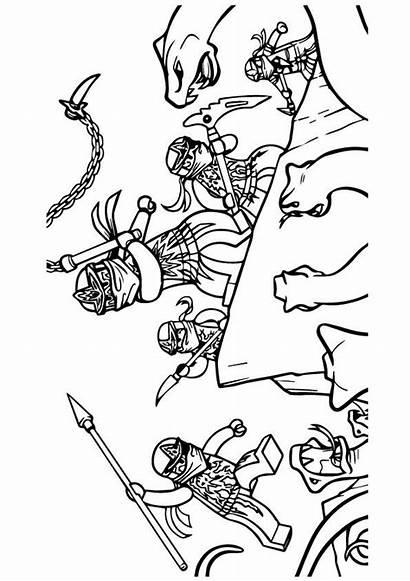 Ninjago Coloring Pages Action Gang Printable Parentune