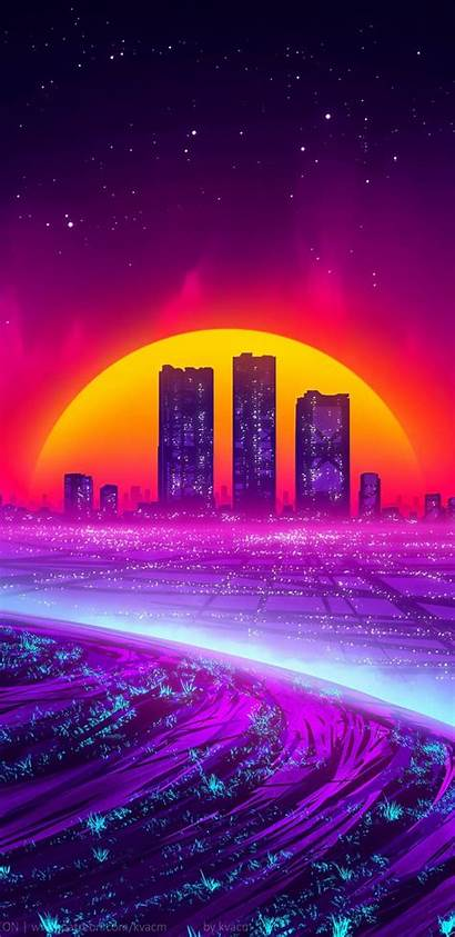 Wallpapers Phone Iphone Cyber Synthwave Backgrounds Outrun