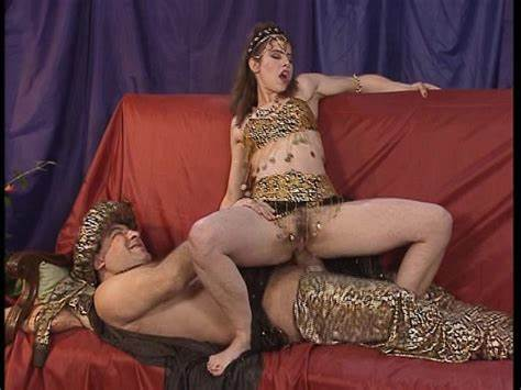 Flawless Arabic Daughter Belly Dancing pharaoh pleases the belly dancer with his staff