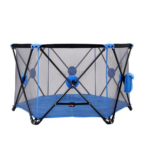 playpen for foxhunter portable baby pop up playpen play pen yard 6
