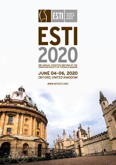 congress calendar esti european society thoracic imaging