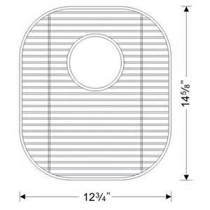 kitchen sinks stainless steel sink bottom grid 12 3 4 w x 14 5 8 quot d by sinkware