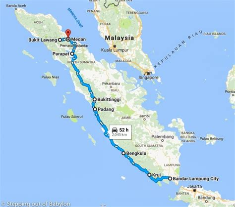 days  sumatra maps costs  itinerary stepping