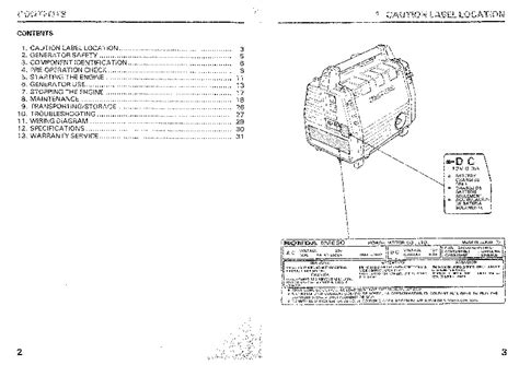 honda generator em owners manual