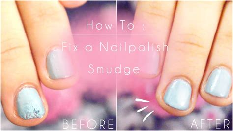 Fix A Smudged Nail Polish Quickly With Only One