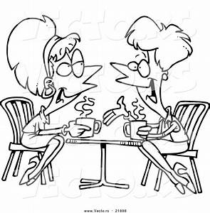 Friends Talking Black And White Clipart - Clipart Suggest