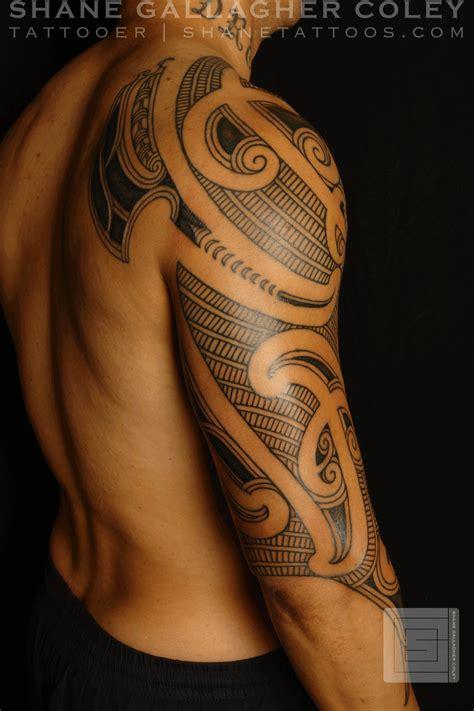 shane tattoos maori sleeve ta moko