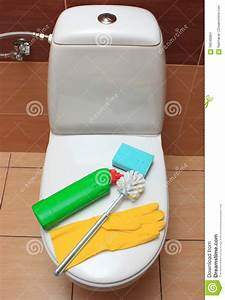 Accessories For Cleaning Toilet Bowl Stock Photo - Image ...