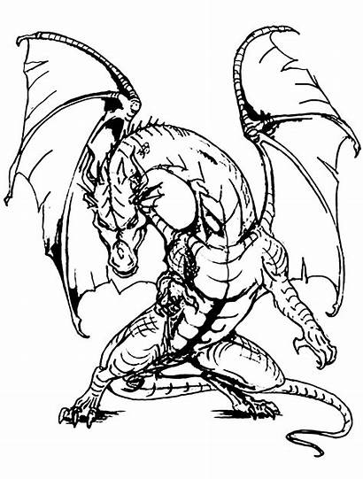 Dragon Dragons Coloring Scary Giant Pages Adult