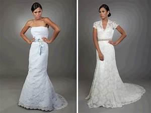 light blue lace mermaid wedding dress and white lace v With blue lace wedding dress