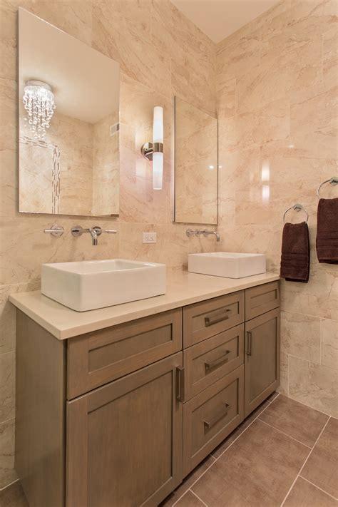bathroom vanity  chandelier teak lights monochromatic