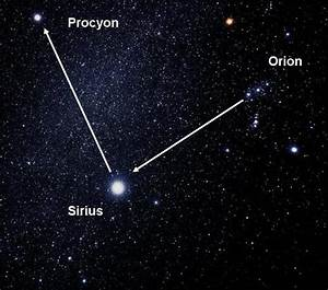 Deanspace: Canis Major and Canis Minor, Orion's Sky Dogs