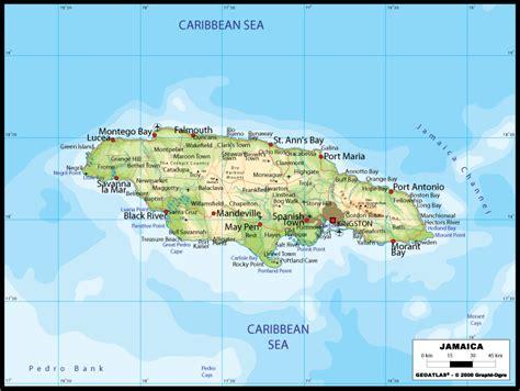 large road map  jamaica