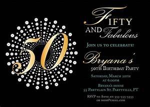 Impressive 50th birthday party invitation template for Template for 50th birthday invitations free printable