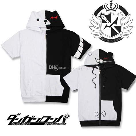 monokuma jacket danganronpa monokuma black white hoodies