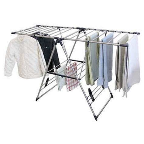 costco clothes rack greenway home products 174 x large stainless steel fold away