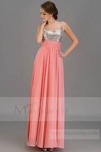 robe longue corail With robe de soirée couleur corail