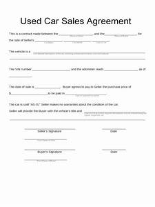 car sale contract form 5 free templates in pdf word excel With private party car sale contract template
