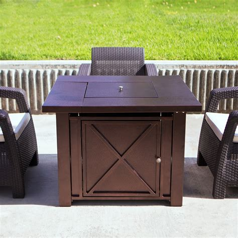 propane gas fire pit outdoor table by blue rhino lpg fire pit table outdoor gas fireplace propane heater