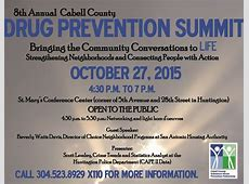 Drug Prevention Summit Oct 27 – Cabell County Family