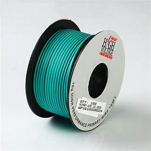 100ft Green Primary Wire 16 Gauge Awg Stranded Copper