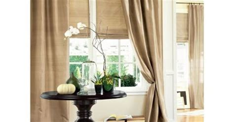 Brownstone Or Blue Dawn Drapes With Grass Clothe Or Tan Roman Shades For Terrace Office Curtains Online Sale Outdoor Plastic Tinsel Door Curtain Widths Standard Blinds Shades Tortilla Ending 56 Inch Paul Simon Poles