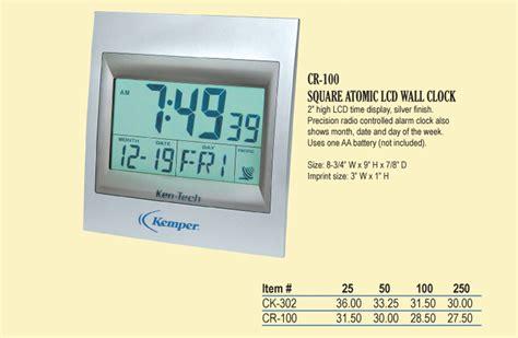 digital atomic desk clock corporategifts 4 less custom logo and personalized gift