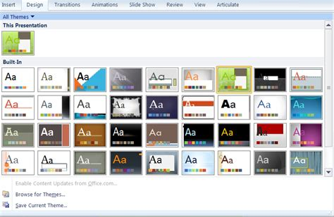 Making Built-in Powerpoint Templates Your Own