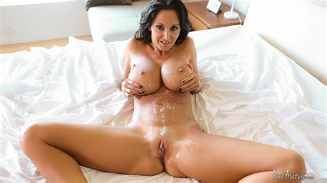 cougar milf ava addams get her massive boobs cum coated after a deepthroat