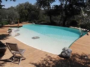 piscine structure coffrage marinal forme libre terrasse With piscine forme libre avec plage 1 photos des plus belles piscines paysagares piscine