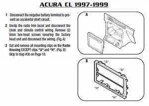 1998 Acura Cl Installation Parts  Harness  Wires  Kits