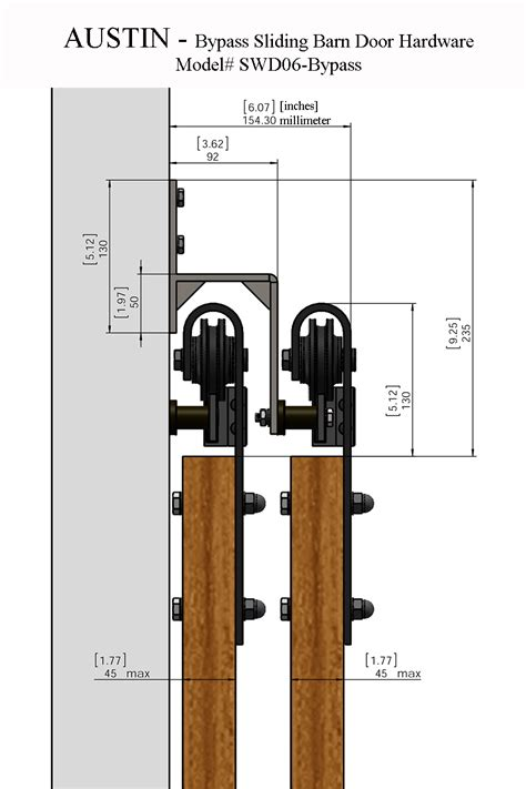 barn door cabinet hardware austin bypass sliding barn door hardware