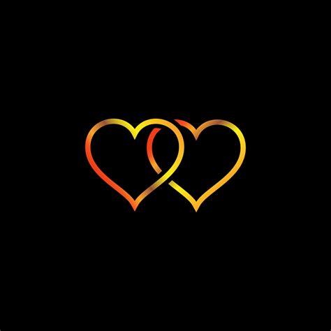 herz gold schwarzer hintergrund kostenloses bild auf pixabay
