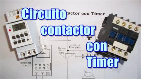 circuito de contactor con timer ddigital