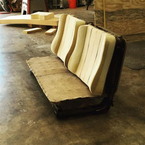 """""""building A Giant Bench Seat #dart #benchbucket #springs"""