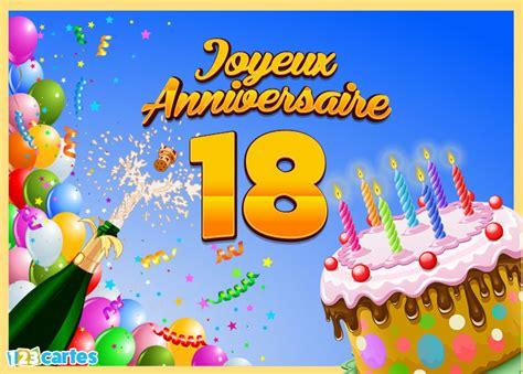 modele de carte anniversaire 18 ans 18 ans cartes et invitations gratuites 123 cartes